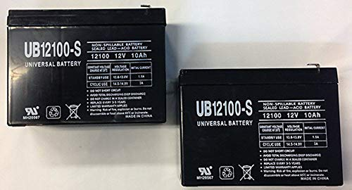 Universal Power Group 12V 10AH Replaces HE12V127 HGL1012 LCRB1210P NEUTON CE5 POWPS12100 UPS Battery - 2 Pack