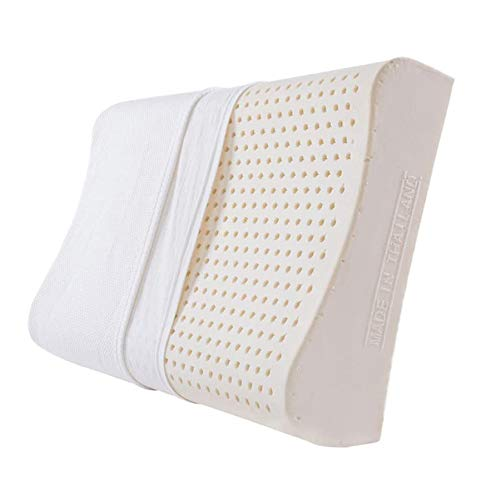 YANXUAN Contour Pillow for Sleeping, Thailand Natural Latex Pillow for Neck Pain Relief, Cool Cervical Pillow with Washable Pillowcase, Made in Thailand