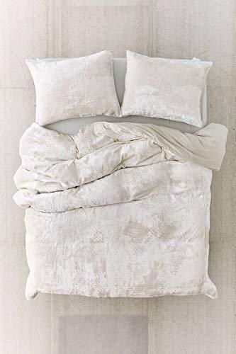 Craftolic 3-Pieces Plush Duvet Covers King Size,Velvet Fluffy Comforter Set  Luxury Faux Fur Organic Crushed Velvet Comforter Cover - Bedding duvets Cover Sets (White)