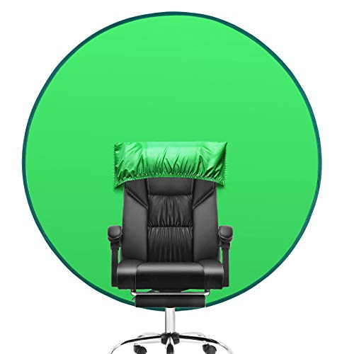 Oiwewly Green Screen Background for Chair (56'), Portable Collapsible Photography Backdrop for Home Office Video Conferencing YouTube Studio