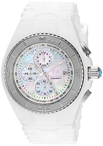 Invicta Men's Cruise Stainless Steel Quartz Watch with Silicone Strap, White, 28 (Model: TM-115356)
