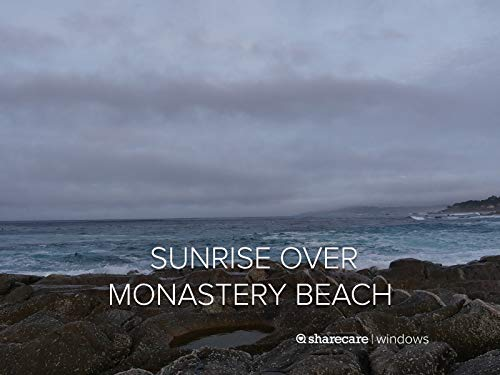 Sunrise over Monastery Beach