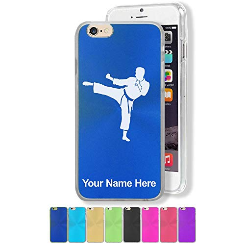 Case Compatible with iPhone 6 Plus and iPhone 6s Plus, Karate Man, Personalized Engraving Included