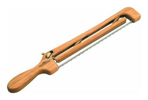 Mountain Woods Oak Adjustable Fiddle Bow Left Handed Bread Knife   Bagel Slicer - 16' x 2.5' x 1'