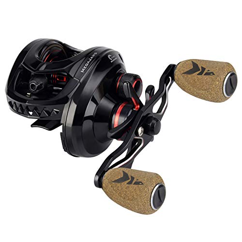 KastKing MegaJaws Baitcasting Reel,7.2:1 Gear Ratio,Left Handed Fishing Reel,Blacktip