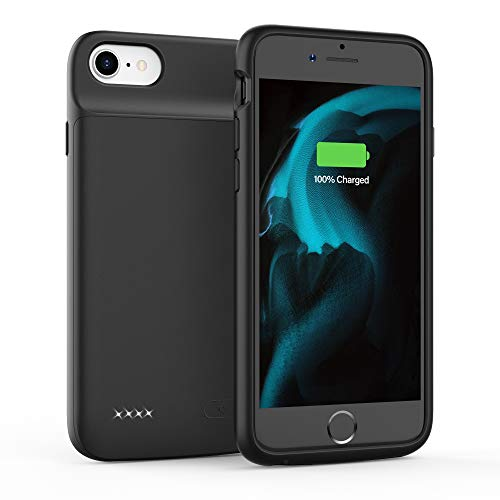 Battery Case for iPhone 6 6S 7 8 SE 2020 (2nd Generation), 3200mAh Charging Case, Protective Charger Case, Portable Extended Battery Pack (4.7-inch) (Black)