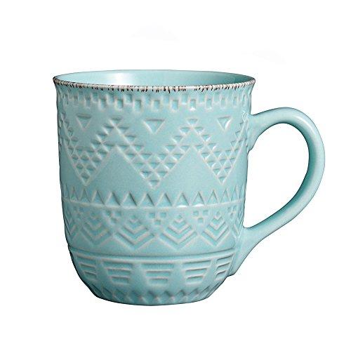 Pfaltzgraff Remembrance Teal Mug, 15-1/2-Ounce