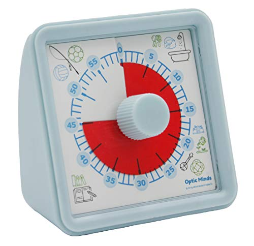 Optic Minds 60 Minute Visual Timer for Kids with No Loud Ticking The Perfect Classroom Time Management Tool for Teaching
