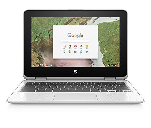 HP Chromebook x360 11-inch Convertible Laptop, Intel Celeron N3350, 4GB RAM, 32GB eMMC storage, Chrome OS (11-ae040nr, White) (Renewed)
