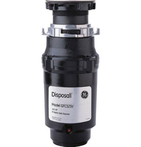 GE GFC525V .5 Horsepower Continuous Feed Disposal Food Waste Disposer with Power Cord Attached