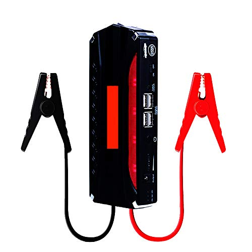Car Start Jumper Quick Start Safety Hammer Dual USB Ports 4 Lighting Modes Equipped with an Inflator Suitable for Car Batteries and Tires