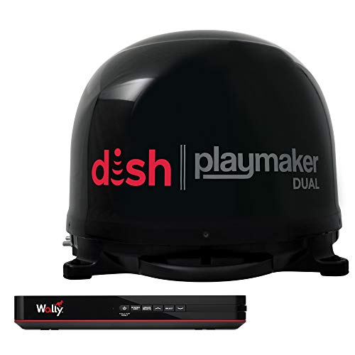 Winegard PL-8035R Dish Playmaker Dual with Wally HD Receiver Bundle - Black