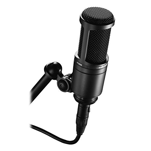 Audio-Technica AT2020 Cardioid Condenser Studio XLR Microphone, Ideal for Project/Home Studio Applications
