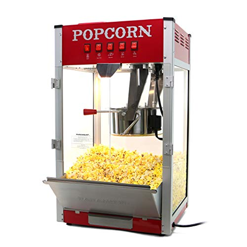 Paramount 16oz Popcorn Maker Machine - New 16 oz Hot Oil Commercial Popper [Color: Red]