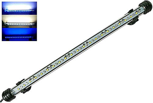 MingDak Submersible LED Aquarium Light,Fish Tank Light with Timer Auto On/Off, White & Blue LED Light bar Stick for Fish Tank, 3 Light Modes Dimmable,8W,15 Inch