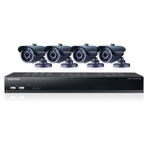 Samsung SDS-V4040N 8 Channel DVR Security System 500 GB HDD 4 Box Cameras
