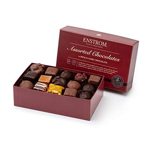 Enstrom Chocolates in Milk and Dark Chocolate 20oz Box | 30 piece | Kosher Dairy