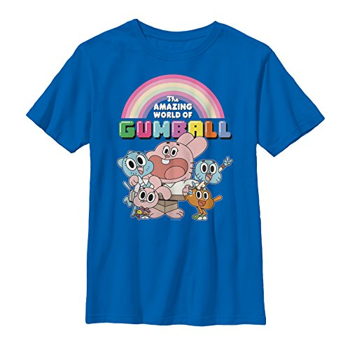 The Amazing World of Gumball Men's Watterson Family Portrait Royal Blue T-Shirt