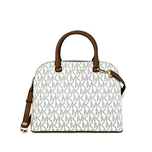 Michael Kors Cindy Large Dome Satchel With Sling, Vanilla