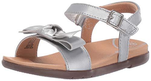 Stride Rite Baby-Girl's SRTech Savannah Sandal, Silver, 9 M US Toddler