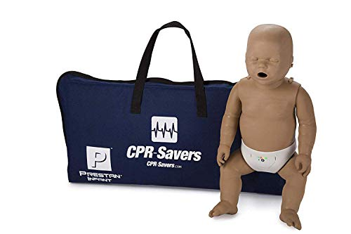 CPR Savers Prestan Professional Infant CPR Training Manikin with 2019 AHA Feedback Monitor, Dark Skin, PP-IM-100M-DS