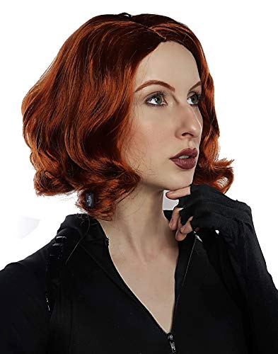 Avenging Widow Wig Costume For Women Scully Cosplay Red Wigs Girls Kids Auburn Ginger Wigs