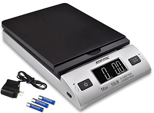 ACCUTECK All-in-1 Series W-8250-50bs A-Pt 50 Digital Shipping Postal Scale with Ac Adapter, Silver