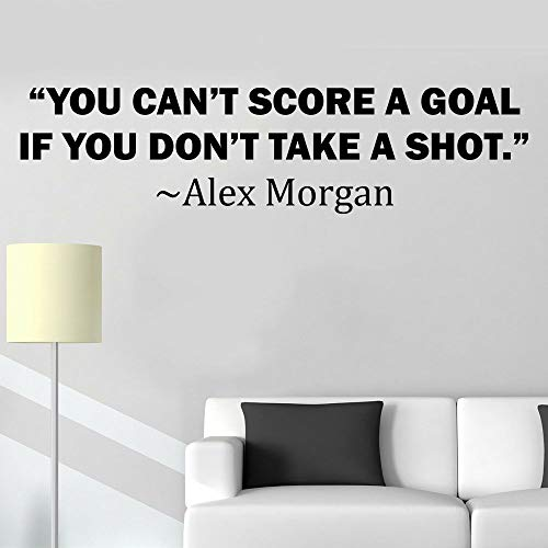 ALEX MORGAN WALL DECALS FOR GIRLS BEDROOMS/Girl Motivational Soccer Quotes/Kids Stickers Vinyl Art For Decorating Children's Rooms/US International Soccer Team Sports SCORE GOAL Size 16x20 inch