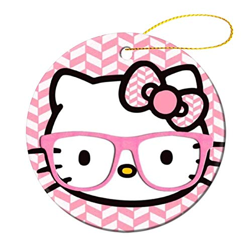 OPKSHNT Hello Kitty with Sunglasses Decoration Christmas Tree Ornament for Family Home Shopping Mall Club Hanging Tree Ornament
