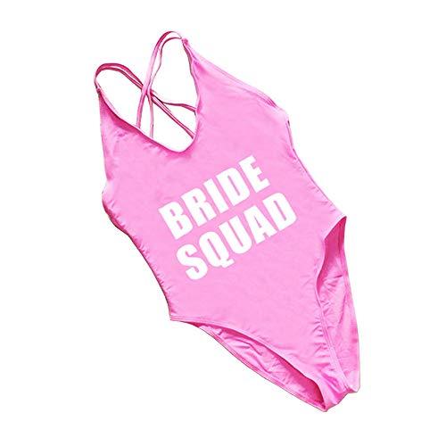 Cross Back Bridal Party Bride Squad Bachelorette Bathing Suit Swimsuit one Piece