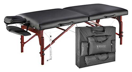 Master Massage 31' Montclair Therma-Top Portable Massage Table with Memory Foam Package,Black