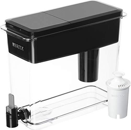 Brita UltraMax Water Filter Dispenser, Extra Large 18 Cup 1 Count, Black
