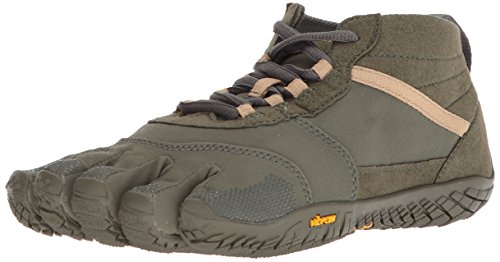 Vibram Five Fingers Men's V-Trek Trail Hiking Shoe (45 EU/11-11.5 US, Military/Dark Grey)