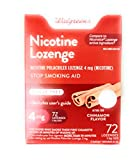 Walgreens Nicotine Lozenge, 4 mg, Cinnamon, 72 ea by Walgreens