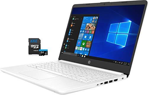 HP Laptop, 14' HD Screen, Intel Celeron N4020 Processor, 4GB DDR4 Memory, 64GB eMMC, Webcam, WiFi, Bluetooth, 1-Year Microsoft 365, Online Class/Online Meeting, Windows 10 Home, KKE 64GB Micro SD Card