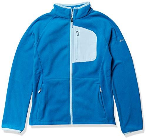 Columbia Kids' Big Fast Trek III Full Zip Fleece Jacket, Dark Pool/Spring Blue, X-Large