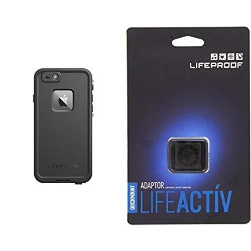 Lifeproof FRE SERIES iPhone 6 Plus/6s Plus Waterproof Case (5.5' Version) - Retail Packaging - BLACK and Lifeproof LifeActiv Quickmount Adapter - Mount - Retail Packaging - Black Bundle