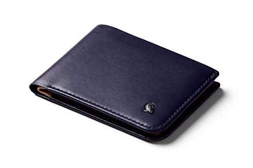 Bellroy Hide & Seek Wallet (Slim Leather Bifold Design, RFID Protected, Holds 5-12 Cards, Coin Pouch, Flat Note Section, Hidden Pocket) - Navy - RFID