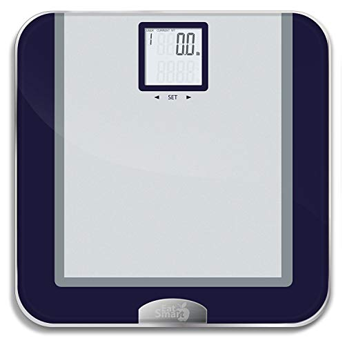 EatSmart Products Precision Tracker Digital Bathroom Scale with Eatsmart Accutrack Software, One Size, Silver/Grey