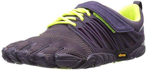 Vibram Women's V-Train Cross-Trainer Shoe, Nightshade/Safety Yellow, 40 EU/8 M US