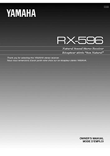 Yamaha RX-596 Receiver Owners Instruction Manual Reprint [Plastic Comb] [Jan 01, 1900]