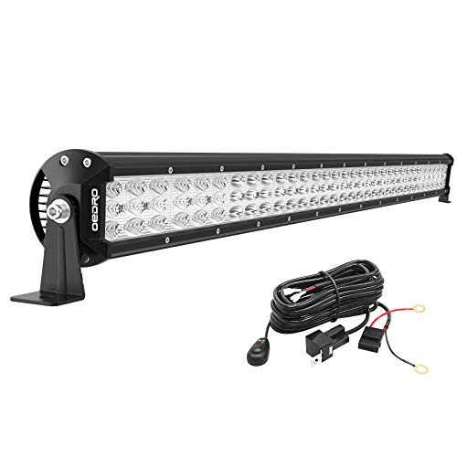 OEDRO LED Light Bar Tri-row 32 Inch 600W 66120LM Work Light Spot Flood Combo Beam with w/Wiring Harness Off-road Light LED Driving Lights Boat Lighting Fit for UTV ATV Jeep Truck SUV, 3 Years Warranty
