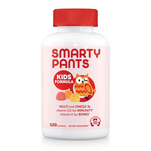 SmartyPants Kids Formula Daily Gummy Multivitamin: Vitamin C, D3, and Zinc for Immunity, Gluten Free, Omega 3 Fish Oil (DHA/EPA), , Vitamin B6, Methyl B12, 120 Count (30 Day Supply)