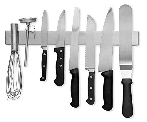 Modern Innovations 16 Inch Stainless Steel Magnetic Knife Bar - Use as Knife Holder, Knife Rack, Knife Strip, Kitchen Utensil Holder & Tool Holder