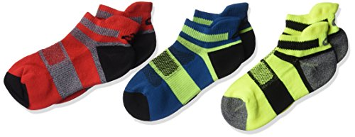 ASICS Youth Quick Lyte Cushion Low Cut Running Socks (3 Pack), Fiery Red,Youth Large