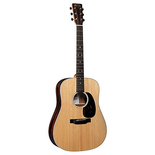Martin Guitar Road Series D-13E Acoustic-Electric Guitar with Gig Bag, Sitka Spruce and Siris Wood Construction, D-14 Fret and Performing Artist Neck Shape with High-Performance Taper