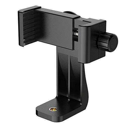Puroma Universal Cell Phone Tripod Mount Adapter Smartphone Holder Mount Clip for iPhone 8 8plus X, 7 7plus 6 6s 6plus 5 5s, Samsung, Huawei P9 honor 8 and more Phones, Selfie Monopod Adjustable Clamp