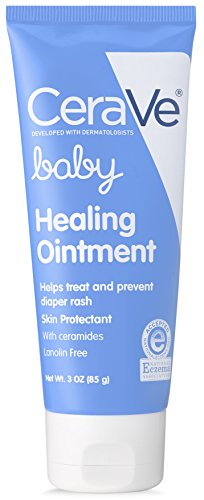 CeraVe Healing Ointment for Baby | Diaper Rash Cream for Extra Dry, Cracked Skin | Lanolin & Fragrance Free | 3 Ounce