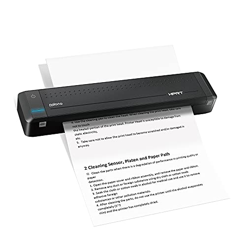 Polono Wireless A4 Paper Printer, Portable Bluetooth Printer, Support Copy Printer Paper, 8.5×11 Inches Paper, Direct Thermal Transfer Printer with Auto Paper Feed, for Android and iOS Phones