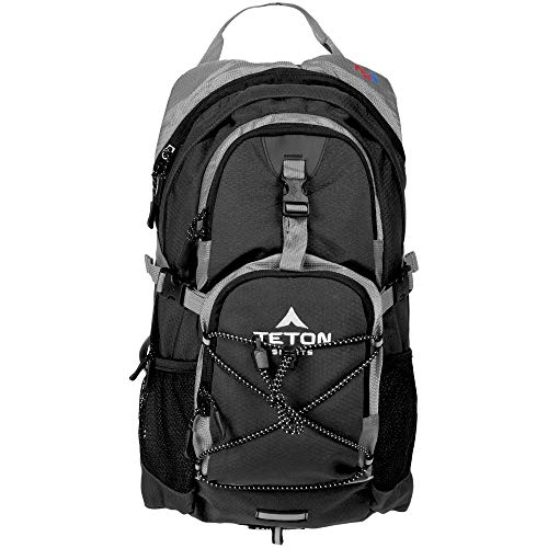TETON Sports Oasis 1100 Hydration Pack; Free 2-Liter Hydration Bladder; For Backpacking, Hiking, Running, Cycling, and Climbing; Black, 18.5' x 10' x 7', Model Number: 1001B